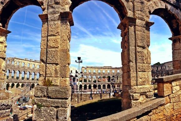 Gladiators Amphitheater in Pula
