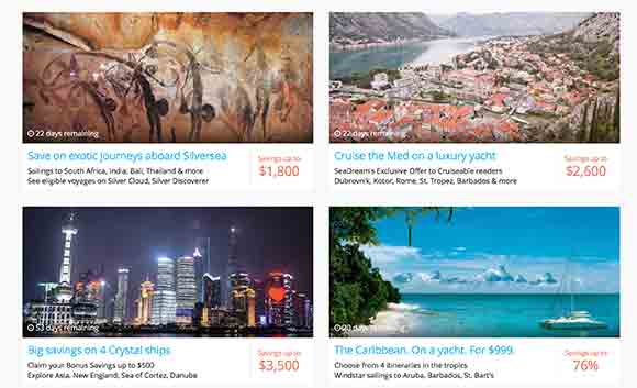 Cruiseable Top Deals Page (Photo by Cruiseable)
