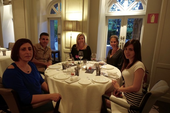 Dinner with family and friends at The Restaurante Villa Magna