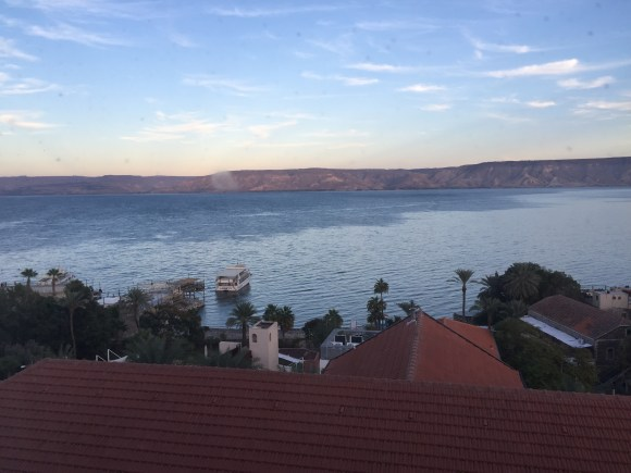 The view of the Sea of Galilee from my Deluxe Room