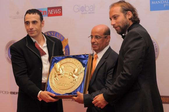 Khalil El-Mouelhy-Chairman,President & Founder SSLHLA,Prince Massimiliano della Torre e Tasso,Mr Salem Al Kubaisi, Katara Hospitality