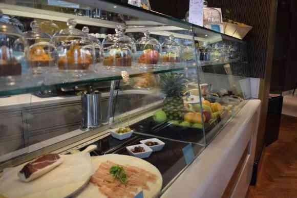 Food selection at Le Moët Bar - Le Meridien Vienna