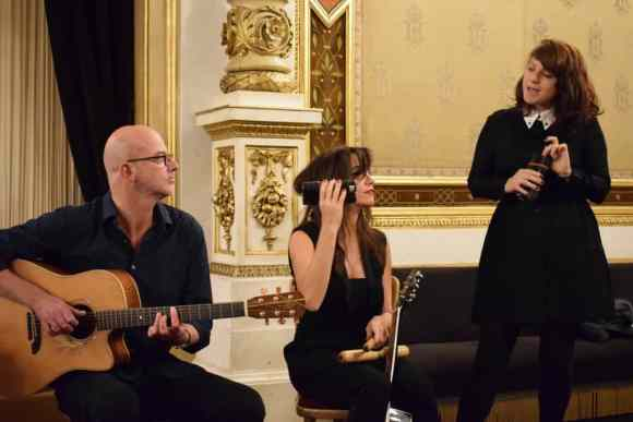 Nouvelle Vague performing at the Stare Opera House at breakfast