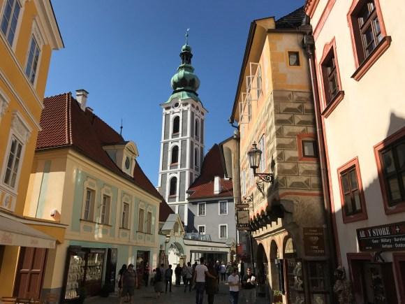 The town of Cesky Krumlov