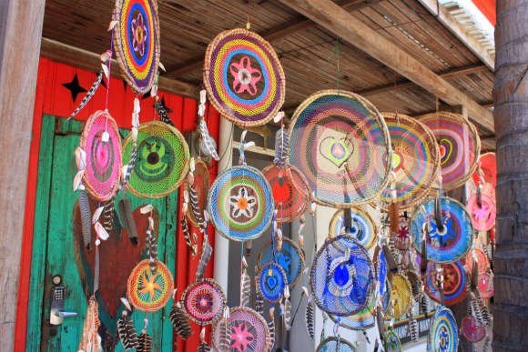 Dreamcatchers being sold by local artist in the town of Sayulita