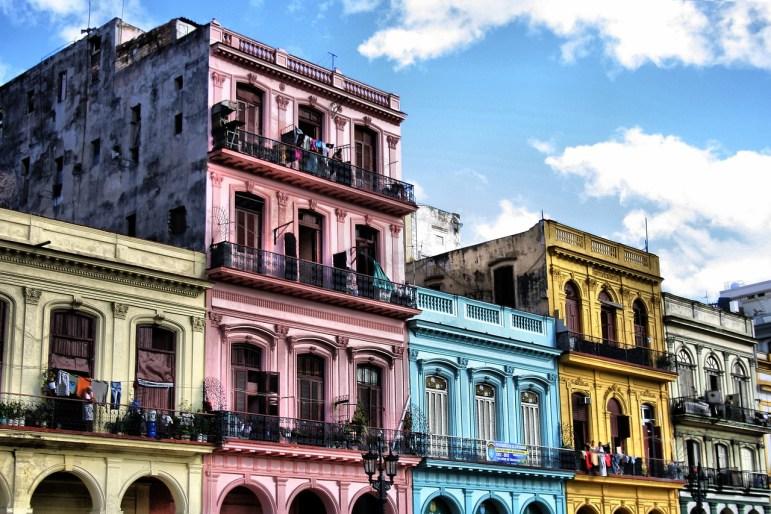 Colorful Building in Havana Cuba