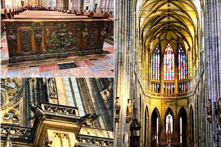Inside St. Vitus Cathedral, Prague