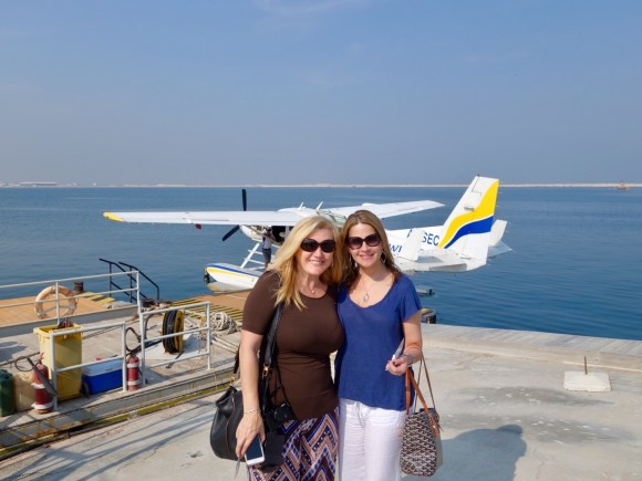 Getting ready to board our seaplane ride with Seawing Seaplane Tours