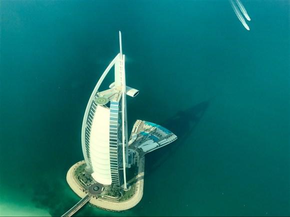 Burj Al Arab from above