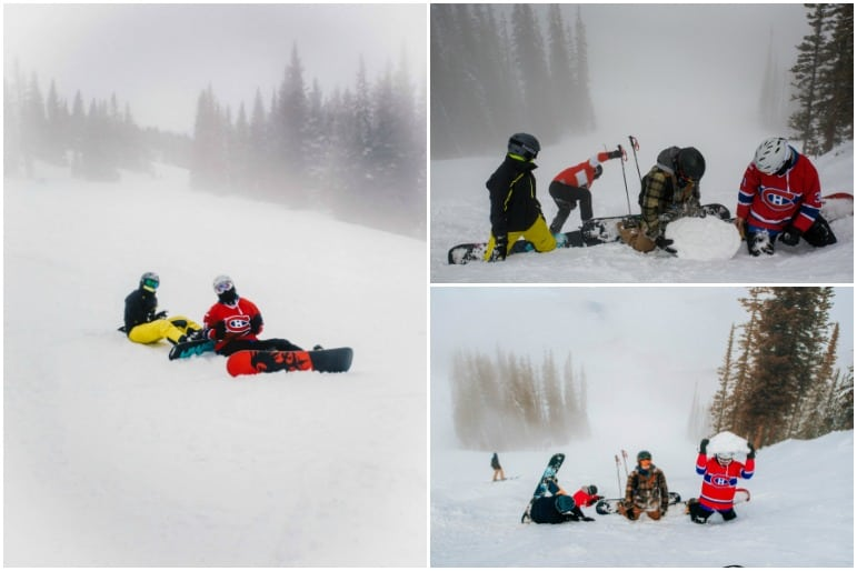 Having fun in the snow at Vail Mountain