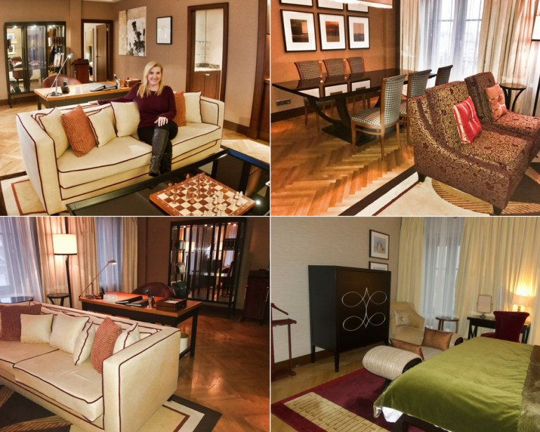 Presidential Suite Living Area, Dining Area, Master Bedroom - Corinthia Hotel St Petersburg