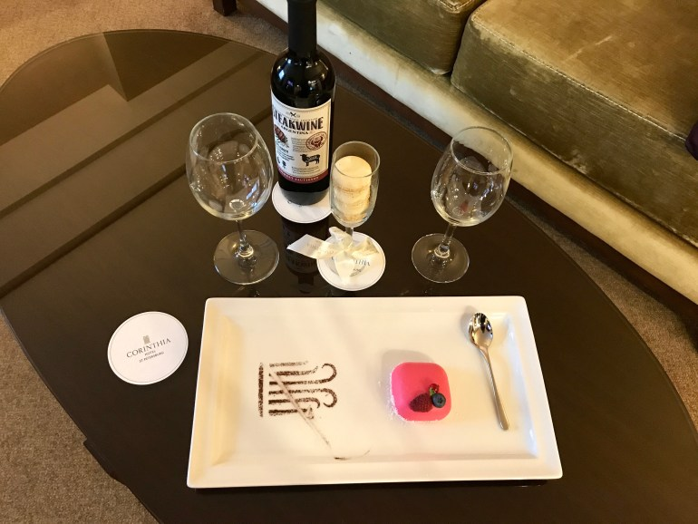 Welcome Tray - Corinthia Hotel St Petersburg