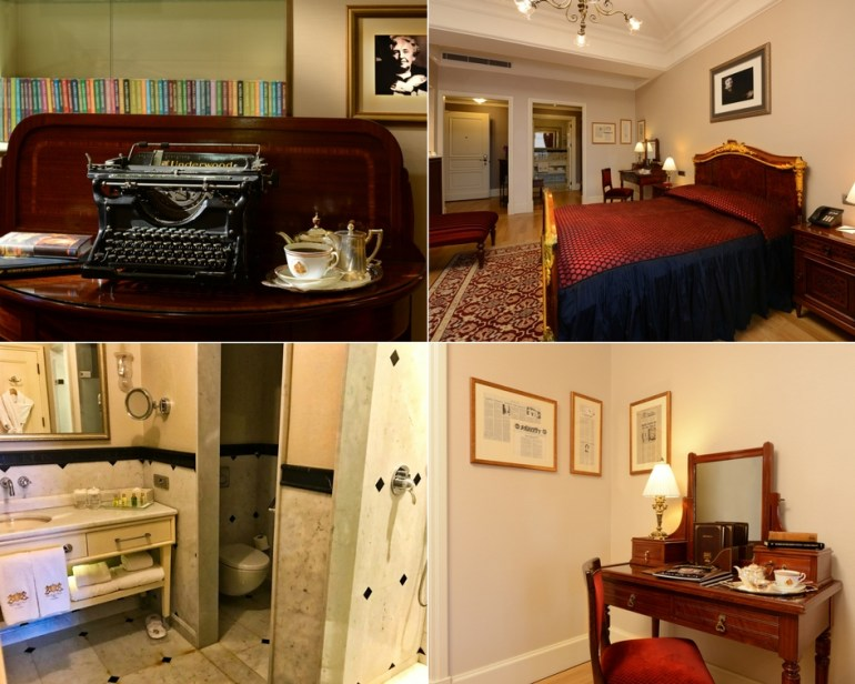 Agatha Christie King Room and Bathroom - Pera Palace Istanbul