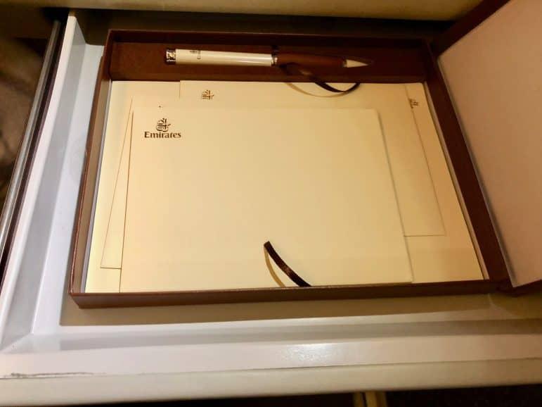 Emirates First Class Writing Kit