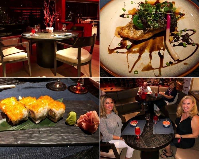 Kushi Restaurant Dinner Selections - Shangri-La Le Touessrok Resort