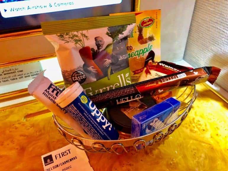 Emirates First Class Candy Basket