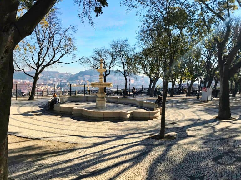 Fountain near Bairro Alto and Principe Real