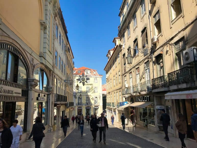 Streets Lined with Shops in Chiado District
