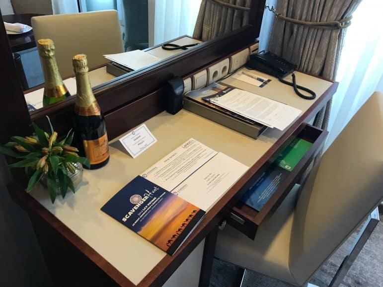 Veranda Stateroom Desk - Azamara Journey