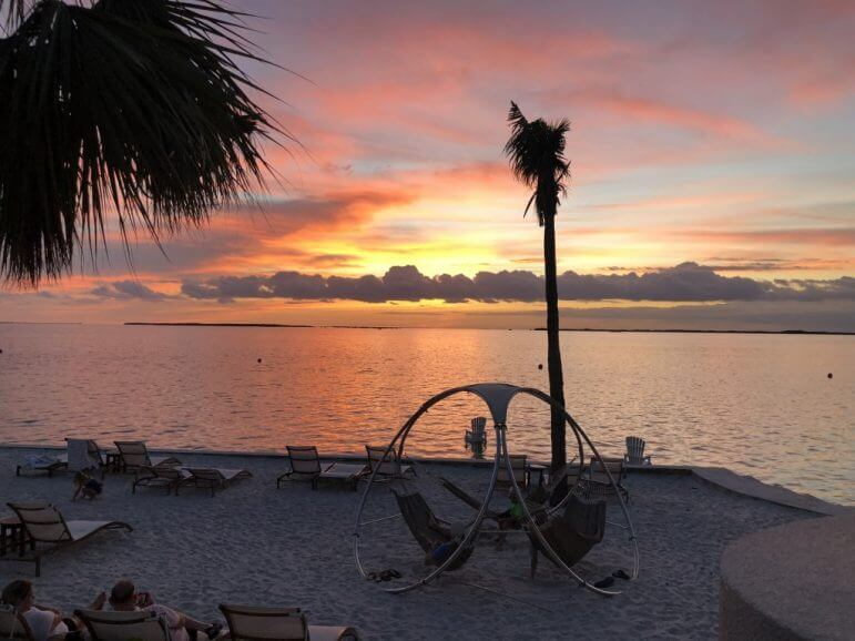 Admiring the sunset from the Beach Bar at Playa Largo Resort & Spa - Key Largo