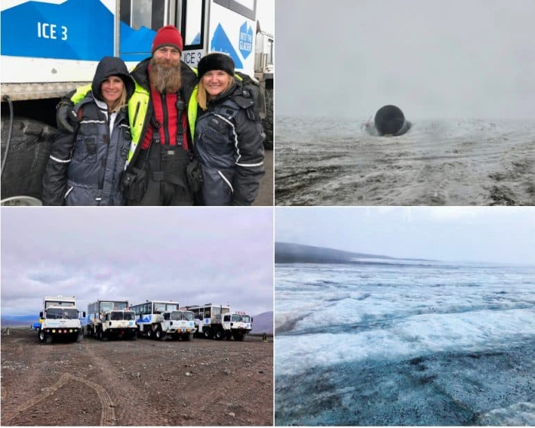 Base Camp Klaki and the Langjokull Glacier, Iceland