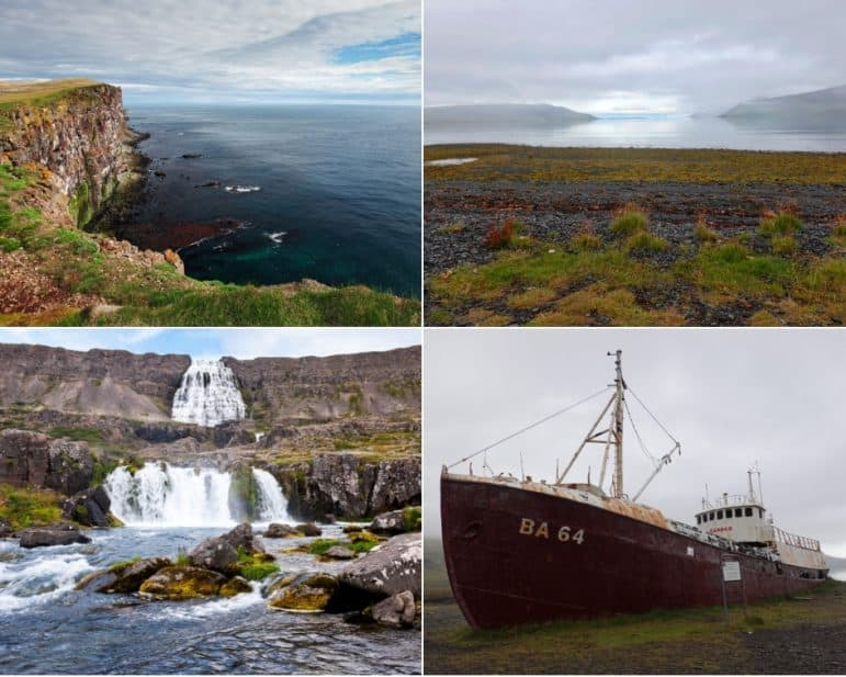 Latrabjarg Cliff, Oldest Steel Ship, Garoar BA, and Dynjandi Waterfalls in Westfjords
