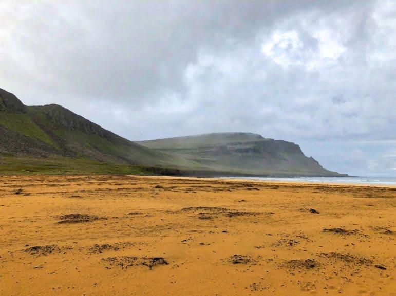 """Rauðasandur or """"Red Sand"""" beach"""