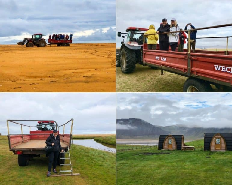 "Tractor Ride on Rauðasandur ""Red Sand"" beach, Iceland"