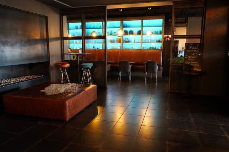 Brass Kitchen & Bar Entrance from ALDA Hotel Reykjavik