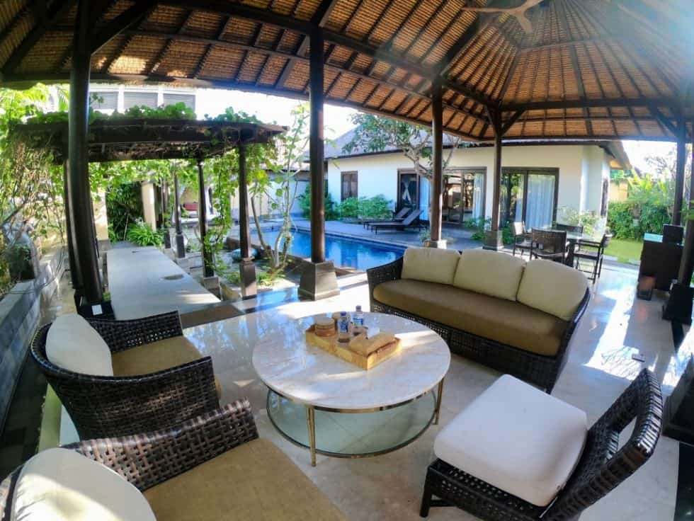 One Bedroom Villa Outdoor Sitting Area - The Trans Resort Bali