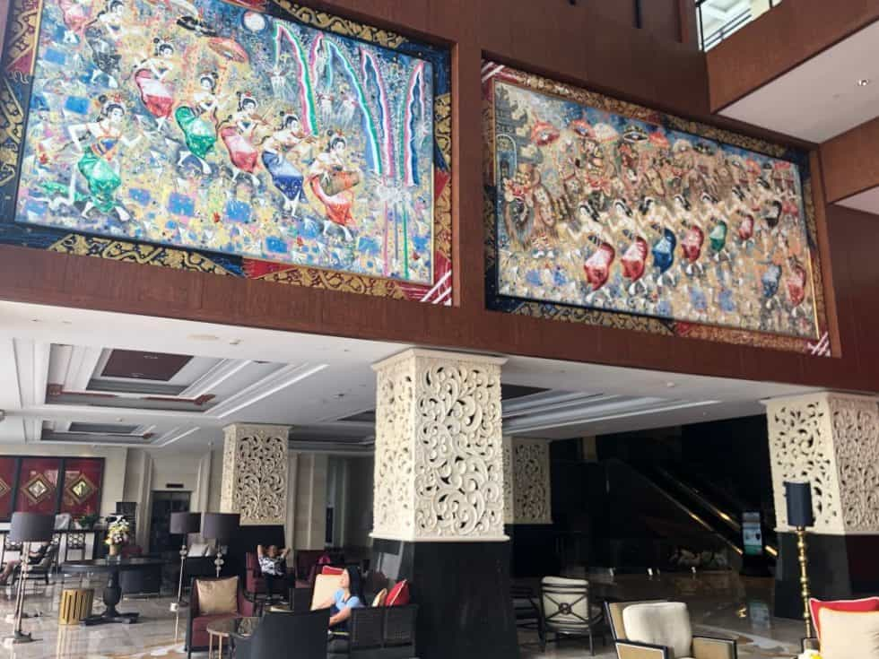 Balinese Painting in The Lobby Lounge - The Trans Resort Bali