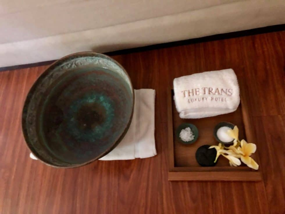 Foot Bath Ritual - The Trans Resort Bali
