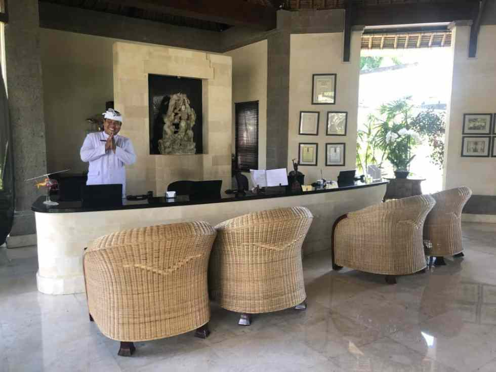Welcoming reception at the Viceroy Bali Ubud