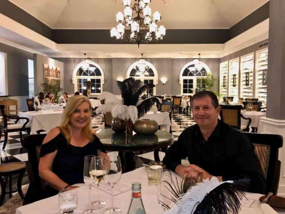 Enjoying dinner at Aperitif Restaurant, Ubud