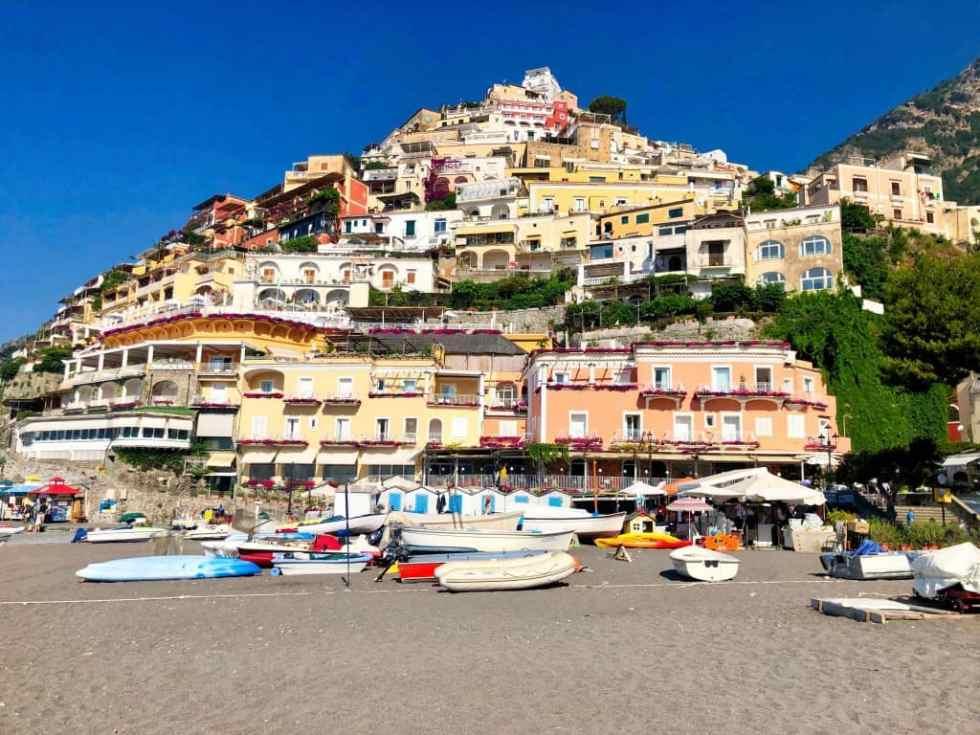 The city of Positano on Amalfi Coast, Italy