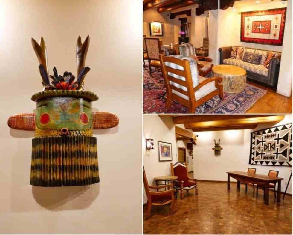Sitting Area and Artwork at Hotel Santa Fe: The Hacienda & Spa
