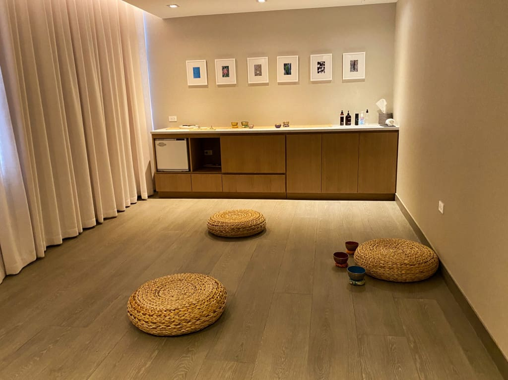 Meditation room - the spa in the Auberge
