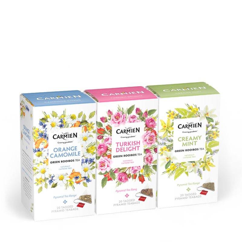 Rooibos Tea Fruit & Herbal Variety Pack, Turkish Delight, Creamy Mint, Orange Camomile, 60 Count
