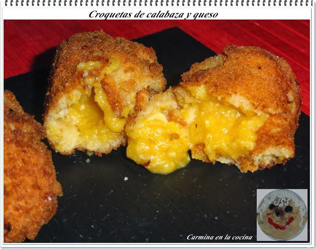 Croquetas de calabaza y queso