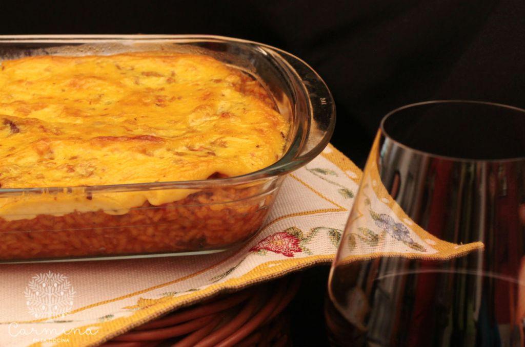 Arroz con collares de cordero costrado al curry