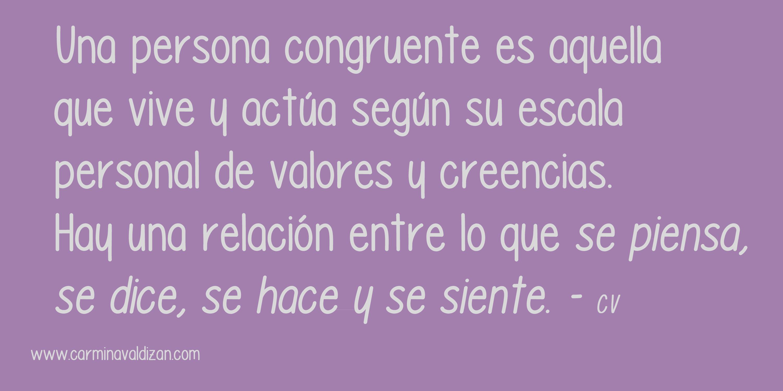 Congruencia - www.carminavaldizan.com