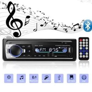 Aigoss Bluetooth Single Din Car Stereo