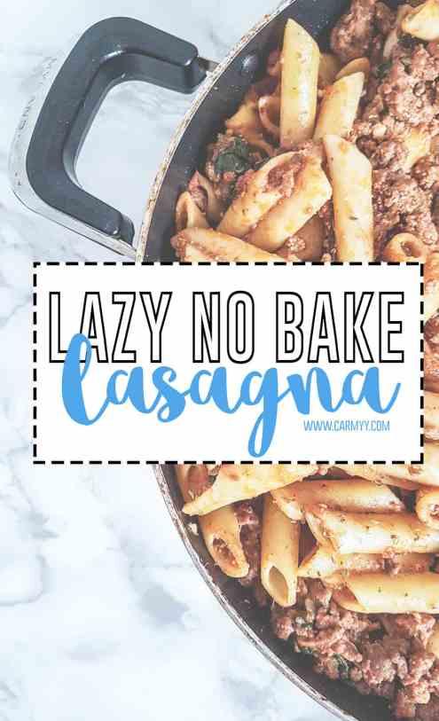Lazy No Bake Lasagna With A Skillet