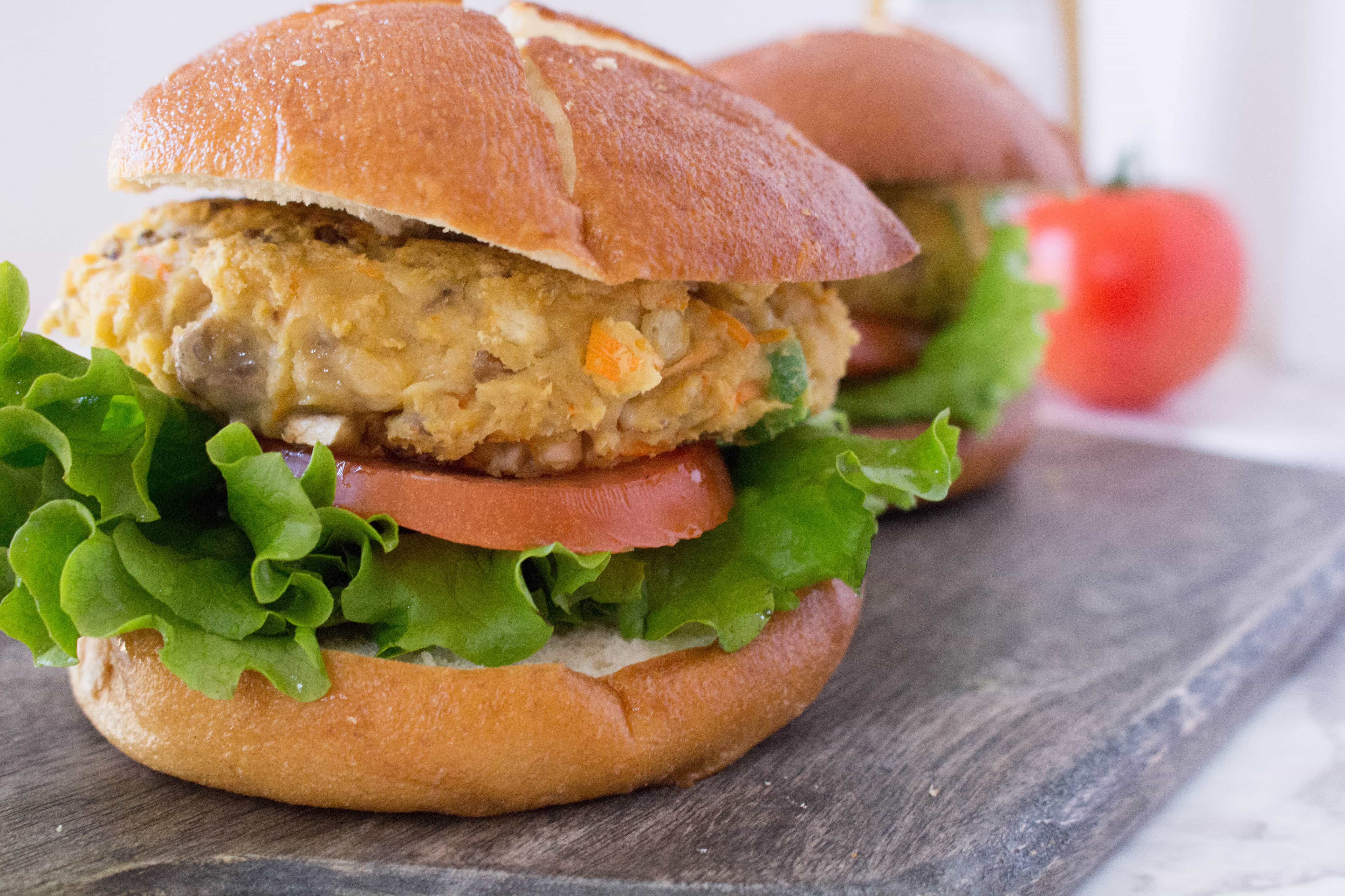 veggie burger with a kick? This chickpea and brown rice burger ...