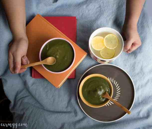 Creamy Spinach and Potato Soup (no dairy)