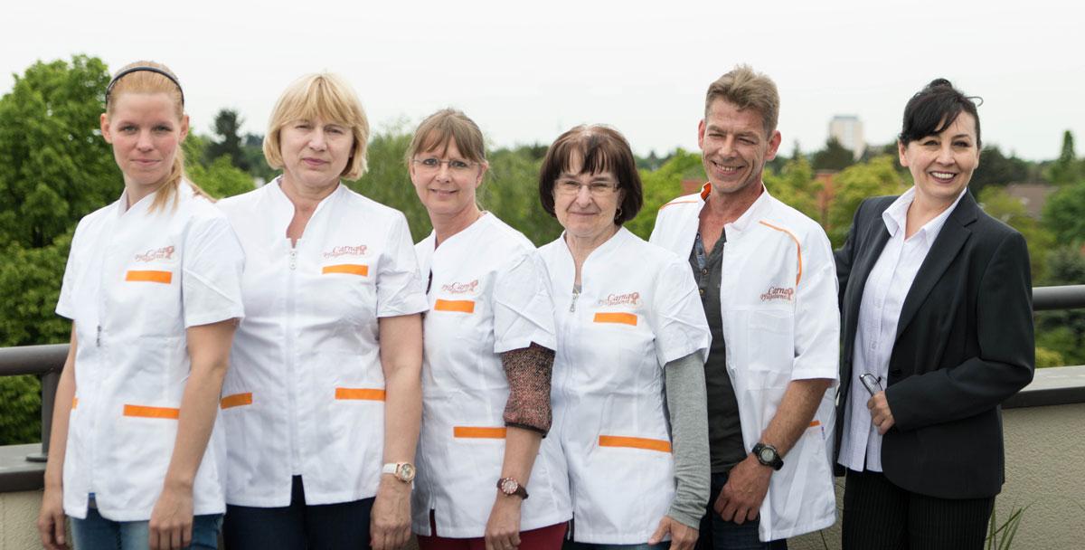 Das Carna Pflegedienst Team steht rund um die Uhr für Sie bereit..