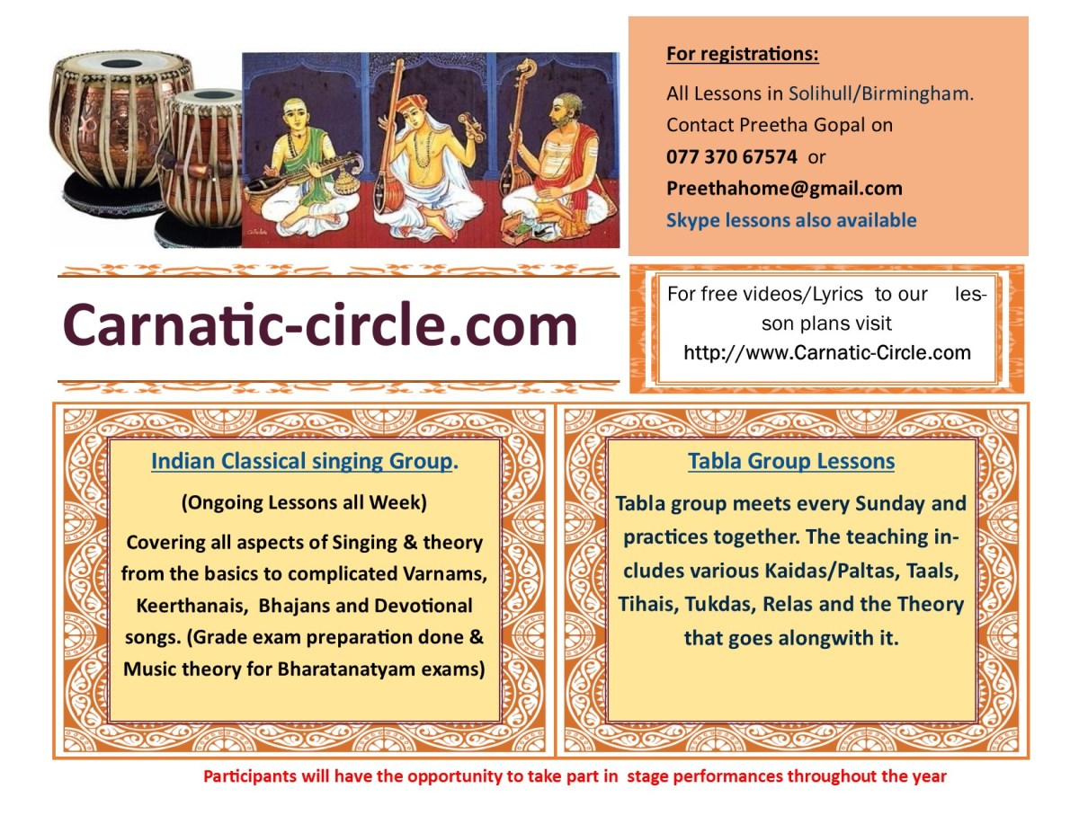 Carnatic/Tabla Lessons Solihull/Birmingham