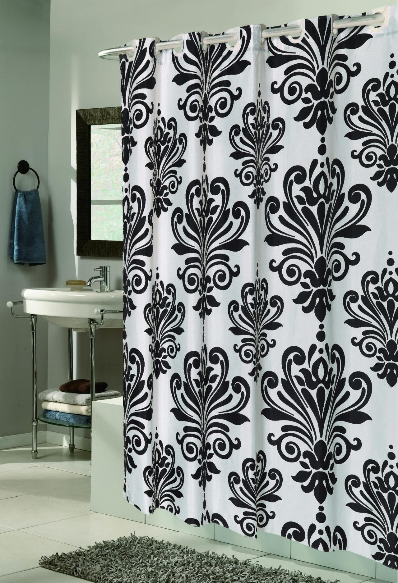 black and white fabric shower curtain cheaper than retail price buy clothing accessories and lifestyle products for women men