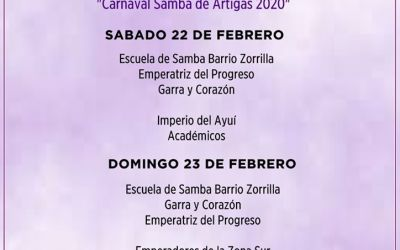 Orden de los Desfiles del Carnaval 2020