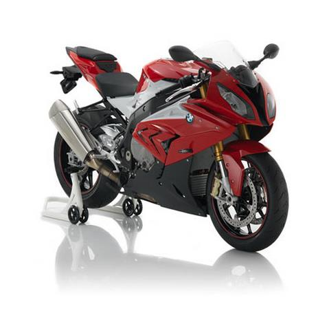 bmw s1000rr Red front 3 quarter view